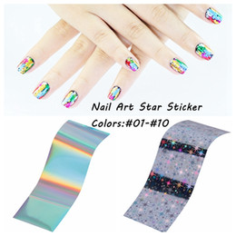 2016 New Transfer Foil Nail Art Star Style Design Stickers Polish Decals Care Many Colors #01-#10 DIY Glitter Beauty Nails Wraps