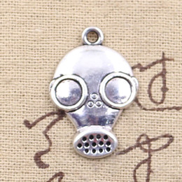 Wholesale 60pcs Charms gas mask steampunk mm Antique Making pendant fit Vintage Tibetan Silver DIY bracelet necklace