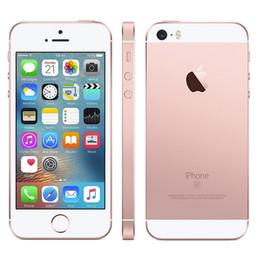 2017 pantallas digitales Reformado original de Apple iPhone SE cámara de 4.0 pulgadas 12MP ROM de 2 GB de RAM 16 / 64GB IOS 9.3 de la huella digital de doble núcleo 4G LTE Smartphone pantallas digitales en oferta