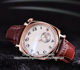 Wholesale New Luxury High Quality Historiques American Rose Gold Automatic Men s Watch R White Dial Brown Leather Strap Watches