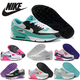 Discount Shoes Run Air Max Nike air max 90 floral running shoes for women,100% Original Nike airmax 90 running shoes Lightweight Breathable Athletic