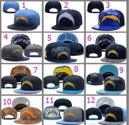 Wholesale New San Diego Football Snapback Blue Black Leather M Reflective Camo Hats SD Chargers Snapback Embroidered Logo Cool Football Snap Back