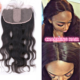 Silk Base Frontal Closure Body Wave Full Frontal Lace Closure 13x4 Lace Frontals With Baby Hair 4*4 Silk Top Full Frontal Closure