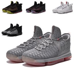 Wholesale Kd VIII Kevin Durant Cheap Kids Basketball Shoes Kd9 Cool Grey USA Unlimited Oreo LMTD Pre Heat Zero Sneakers kds Children Shoes euro36
