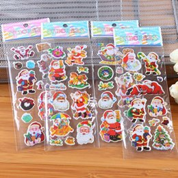 Wholesale cartoon Santa Claus bubble stickers children s small prizes Christmas gifts cartoon stickers quality assurance