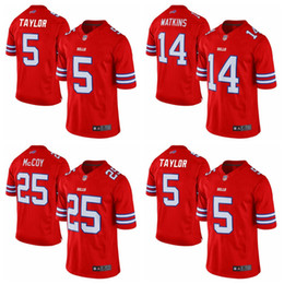 Wholesale 2016 New Men s Cheap Buffalo football jerseys Bills Taylor Watkins McCoy Red Color Rush Limited Jersey authentic Soccer rugby shirt