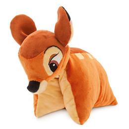 Wholesale cm bambi deer folding pillow toys for children action figure plush animal dolls kids toys gift322