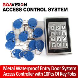 Rfid clave cerraduras de las puertas en Línea-Sistema de control de acceso de llave de puerta de entrada RFID + 10 teclas