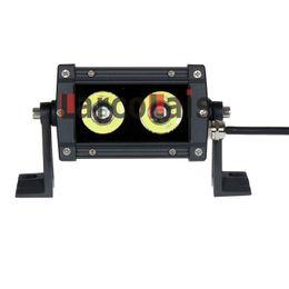 "Larcolais 2pcs 5"" 20w Spot Beam Motor SUV ATV Offroad Driving Lamp Cree LED Work Fog Light"