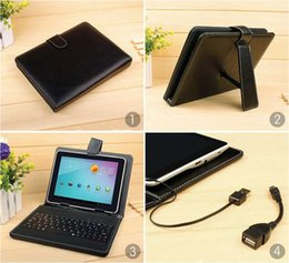 "Q88 7"" Tablet PC Micro USB Leather Keyboard Stand Case For 7 Inch Kids Tablet PC Q88 7"" Keyboard Cover Case"