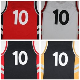 Wholesale 2016 New Material Rev Basketball red white jersey Best quality Embroidery Logos and name Size S XXL