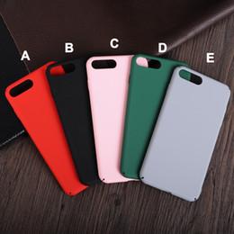 Caoutchouc pression en Ligne-Pour iPhone7 6 plus caoutchouc givré PC Ultra mince caoutchouté dur coquille Coquille Cas Snap on 360 Protector pour iphone 7 7plus