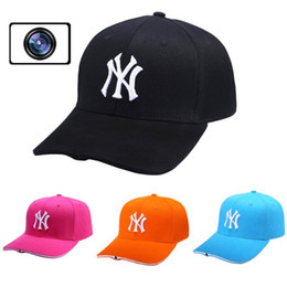 Wholesale New Arrival Tracking Peaked Spy Cap Hidden Camera GB Outdoor Baseball Cap WIFI Connection Remote Control P Live Streaming Video