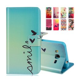 Wholesale-Cartoon Printing Wallet Leather Case For  Galaxy Grand Prime G530 G5306 G530H G531H G531F G5308W Magnetic Cover Phone Bag