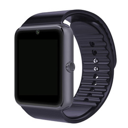Wholesale GT08 Bluetooth Smart Watch wearable devices Support SIM TF Card Smartwatch For apple Android OS phone pk dz09 f69
