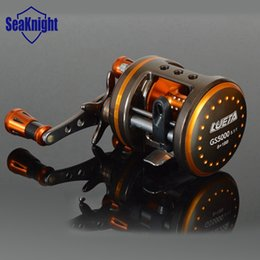 Wholesale Right Hand Metal Fishing Reel Cast Drum Wheel BB Centrifugal Brake Saltwater Ray Fish Wheel Aviation Aluminum GS5000 BB