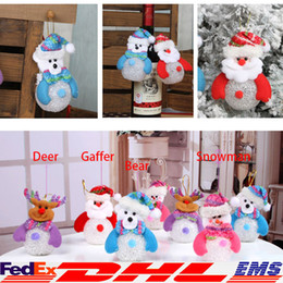 Wholesale LED Christmas Decorations Xmas Santa Claus Elk Snowman Bear LED Festival Ornaments Xmas Tree Hanging Home Party Decor XL T111