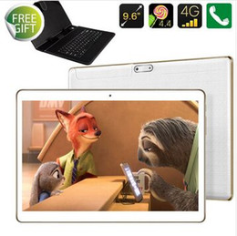 Free ship 2016 9.7 polegada ANDROID 5.1phone portable TABLET PC 4 G DUAL SIM 32 GB 2.0GH OCTA base 2 G   3 G   4 GB IPS couvercle du clavier