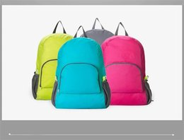 Wholesale Ultra light splash proof folding bag sport skins storage folding backpack travel bag city leisure travel bag outdoor bag fashion
