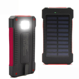 10000mAh universal 2 USB Port Solar Power Bank Charger External Backup Battery With Retail Box For iPhone Samsung cellpPhone charger