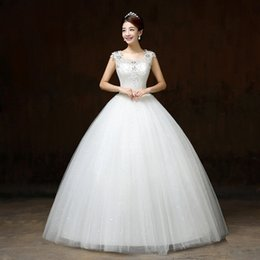 Wholesale Europe And The United States Shoulder Bigger sSzes Of Cultivate One s Morality Shoulder A Word Diamond Lace Applique Wedding Dress B