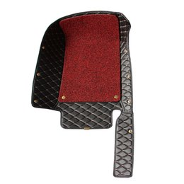 Car Floor Mats Car Special Floor Mat Wine Red Black Brown Beige for Hyundai Santa Fe 2010-2012(5-seat)