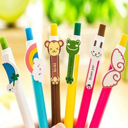 Free Shipping 30pcs lot Cartoon Roller Ball Pens Writing Pen Ball Point Pens Cute Prize Gifts Pen Student Stationery