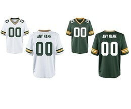 Wholesale Personalized Men s Green Bay packer Custom Elite Football Jerseys High Quality Stitched Custom Any Name and Number white green jerseys