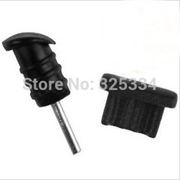 Wholesale 3 mm Earphone Jack plug Dust Cap for Samsung Andriod mobile phone pairs