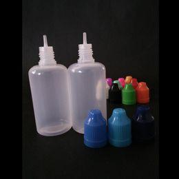 1000pcs lot 50ml pe E LIQUID bottle childproof empty bottles plastic dripper needle tip e juice 50ml wholesales