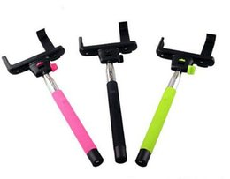 Wholesale best Monopod Selfie Stick Extendable Selfstick Wired Handheld Icanany Z07 plus plus Cable Take Pole for iphone Android