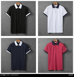 Wholesale real photo summer short sleeve famous brand designer classic brand men causal polo shirt