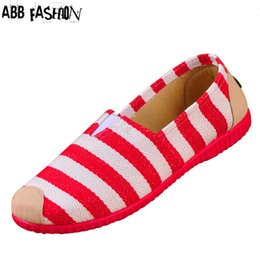 Wholesale ABB Fashion New Cotton Canvas Women Flat Shoes Women s Flats Womens Casual Lazy Shoes Spring Summer Loafers Plus size