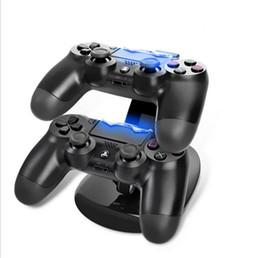 Controladores de xbox para la venta en Línea-Los controladores duales del cargador del soporte del muelle estación inalámbrica Gamepad Joystick de carga titular para Sony Playstation 4 PS4 PS 4 Xbox uno x uno venta