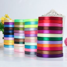 Wholesale Silk Satin Gift Boxes - 22m Long Silk Satin Ribbon 10mm Wide Party Home Wedding Decoration Gift Wrapping Christmas New Year DIY Material Supplies DHL Free Shipping