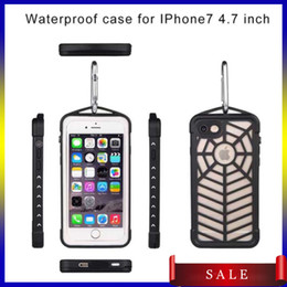 Wholesale Newest Iphone7 Waterproof case Shockproof Snowproof Phone Accessories Case Cover with spider web design For Cell Phone iphone DHL