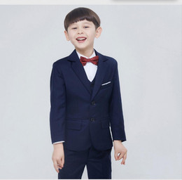 Wholesale New Child Boys Formal Tuxedo Costume Suit Sets Kids Prom Party Suit Wedding Suits For Baby Boys simple fashion style Jacket Pants