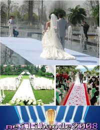 Wholesale 1m width X m roll Fashion White Nonwoven Carpet Aisle Runner For Wedding Party Backdrop Centerpieces Decorations Supplies MYY