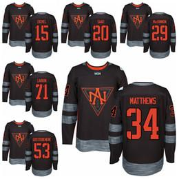 Wholesale North America World Cup Ice Hockey Jerseys Jack Eichel Brandon Saad Auston Matthews Shayne Gostisbehere Dylan Larkin