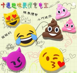 Wholesale Super cute interesting mini emoji power bank charger promotional gifts capacity mAh power bank bright color with retail box pc for sale