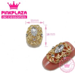 Wholesale News mm Gold Kawaii Face Mask Design D Alloy Hollow Out Nail Decorations D Rhinestones Nail Art Decorations