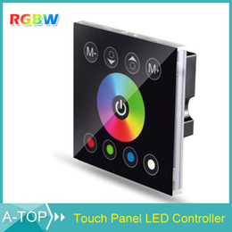 1Pcs DC 12V Wireless LED Controller RF Touch Panel LED Dimmer RGBW Remote Controller For SMD 5050 3528 3014 RGBW Strip Light
