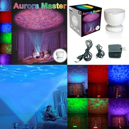 Wholesale Multi Color Aurora Master Ocean Wave LED Light Projector Speaker Lamp Night Light Room Decoration Gift