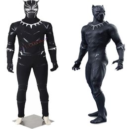 HOT Sale Halloween Captain America 3 Guerra Civile Black Panther T'Challa Cosplay Costume Chrismas Customize Lifelike
