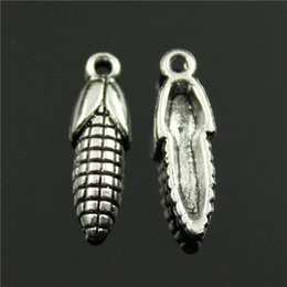 Wholesale 80pcs mm antique silver plated Corn charms