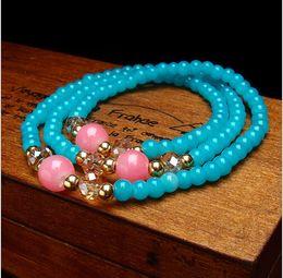 Wholesale Cheap Bohemain Beaded Strands Many Colors Crystal Free Size Women Bracelets Beading Accessory Evening Prom Party Bracelets Bohemian
