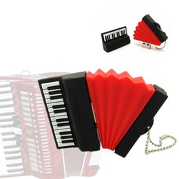 Wholesale 100 Real Capacity Accordion Model USB Flash Drives Piano Memory Stick Pendrives GB GB GB GB GB Musical Instrument Gift