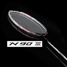 Wholesale li ning lining badminton racket N90 lining badmintons rackets N90iii n90iv carbon badminton racquet li ning