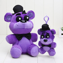 Wholesale 14cm cm FNAF Plush Five Nights At Freddy s Plush toys Shadow Freddy fazbear stuffed doll pendant keychain kids toys