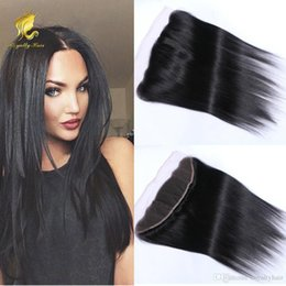 Wholesale Brazilian Hair Lace Frontal Closure x4 quot Bleached Knots quot straight Full Lace Frontal Brazilian Closure no tangle no shedding